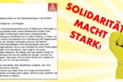 IG Metall-Vertrauenskörperleitung bei Volkswagen in Wolfsburg steht solidarisch an der Seite der GebäudereinigerInnen