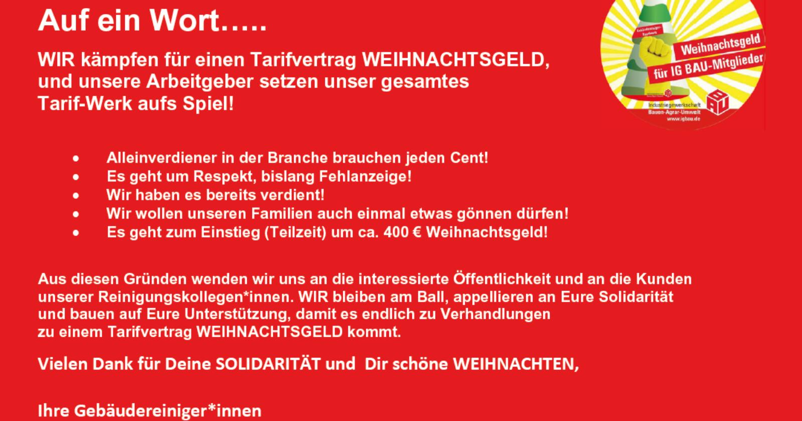 6.000 IGM-KollegInnen von VW zeigen Arbeitgebern der Gebäudereinigung die Rote Karte