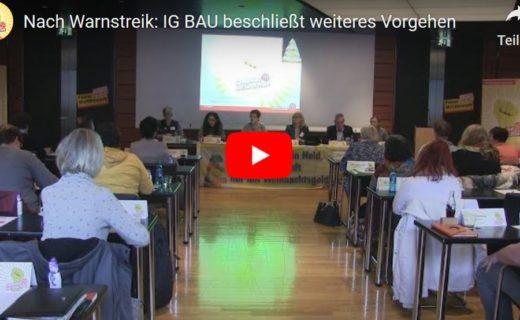 Nach Warnstreik: IG BAU beschließt weiteres Vorgehen
