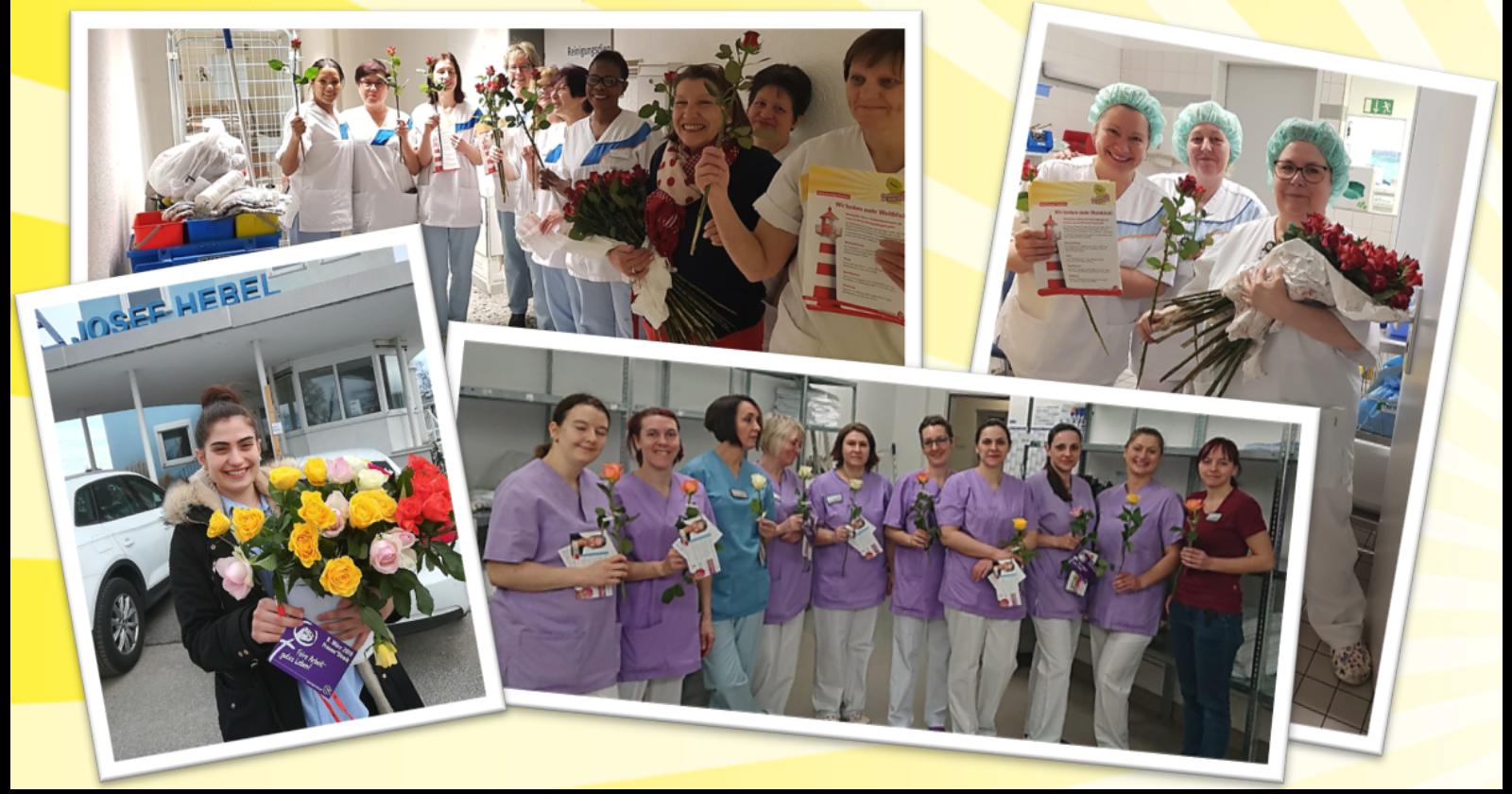 Rosen für Kolleginnen in der Gebäudereinigung – IG BAU feiert den Internationalen Frauentag