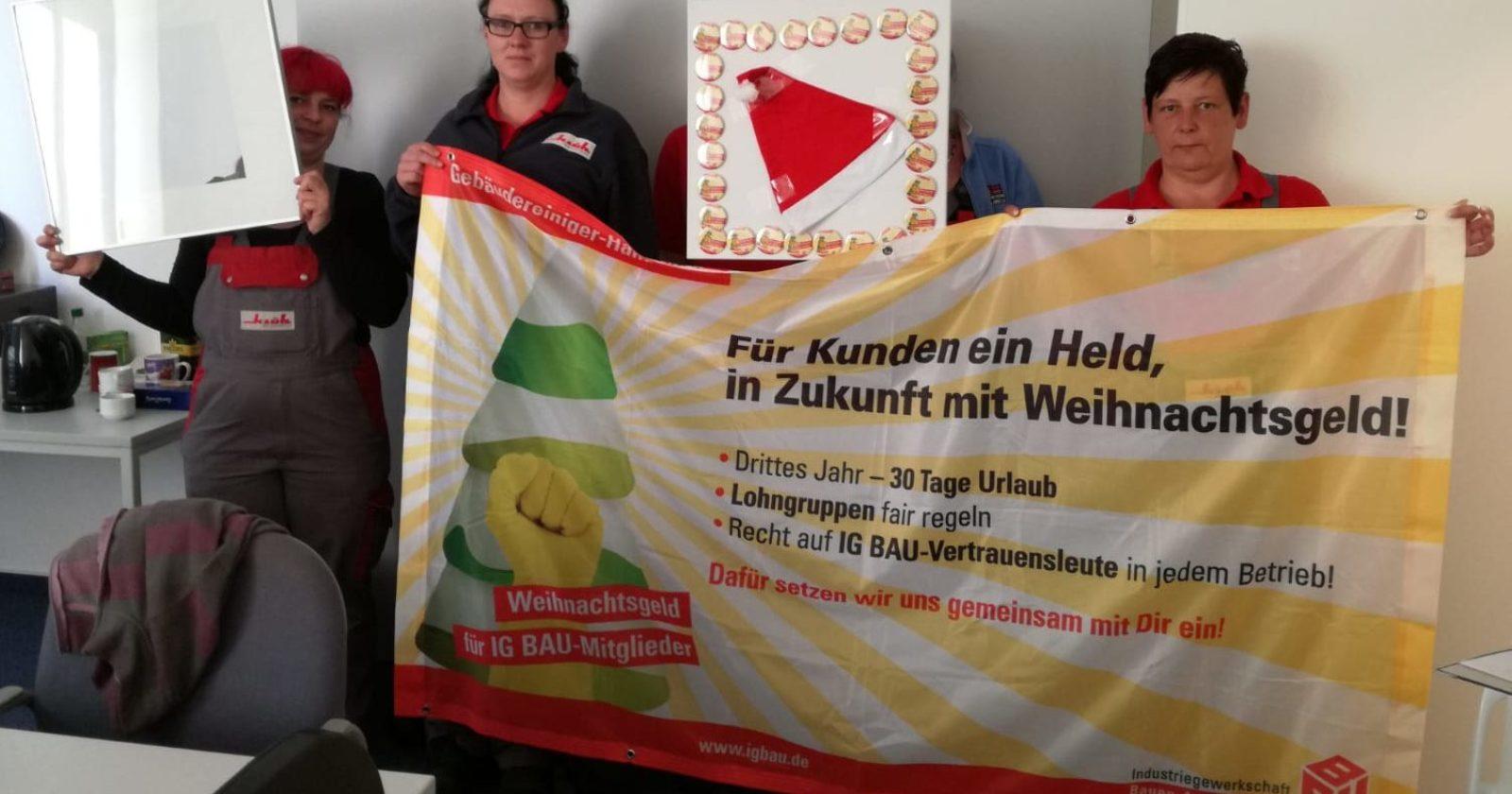 """Klüh – Beschäftigte in Stralsund: """"Kündigung des Rahmentarifvertrag, um Überstundenzuschläge zu sparen, ist eine Frechheit!"""""""