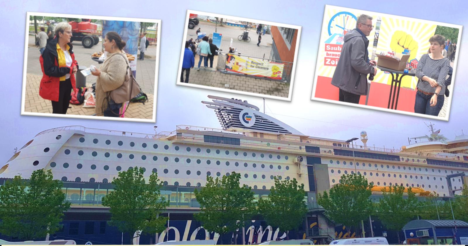 Tag der Gebäudereinigung in Kiel:  Respect for Cleaners, auch auf Kreuzfahrtschiffen