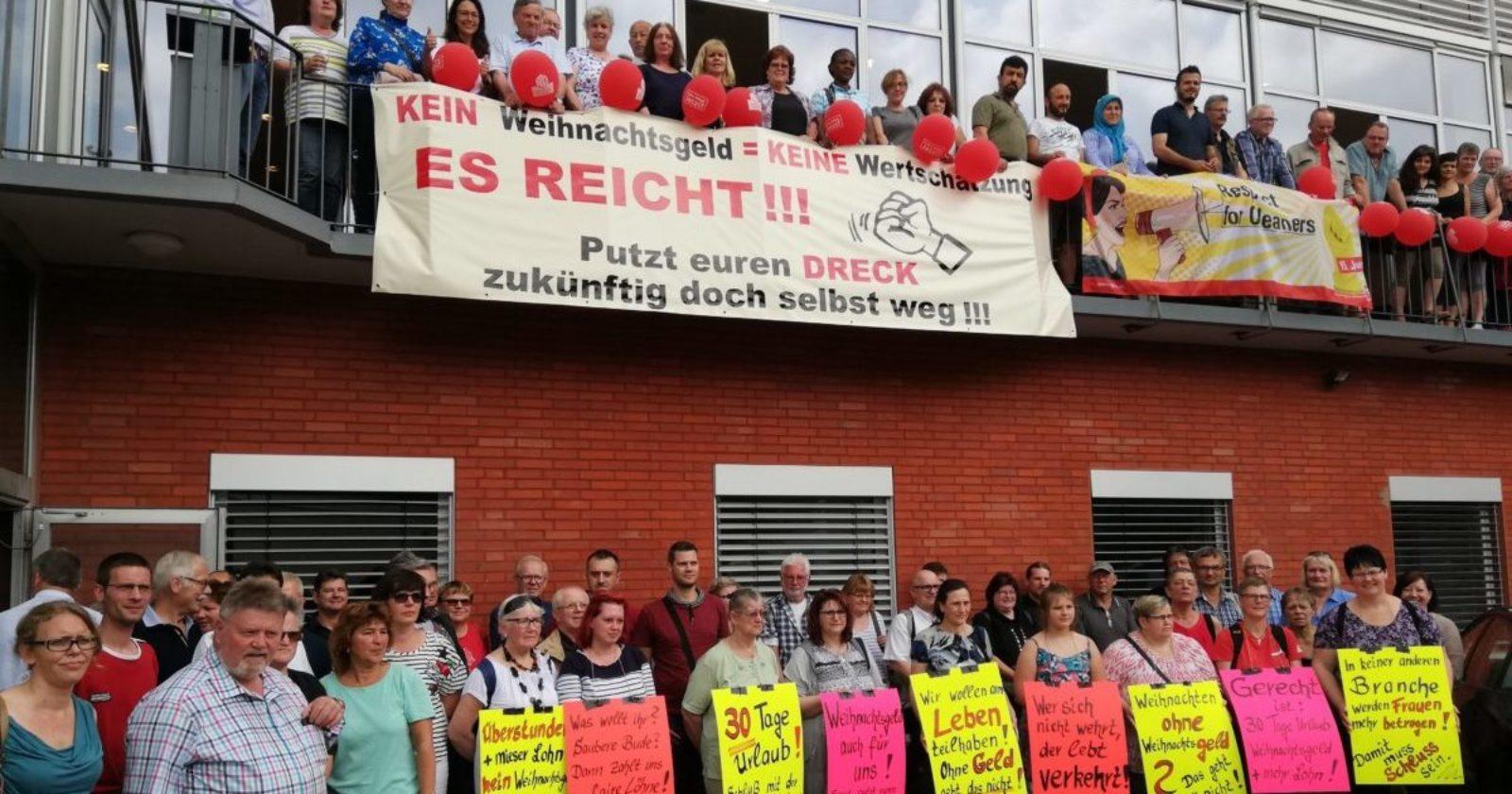 Tag der Gebäudereinigung in Niedersachsen - Mehr als 100 KollegInnen machen sich fit für Tarifkonflikt