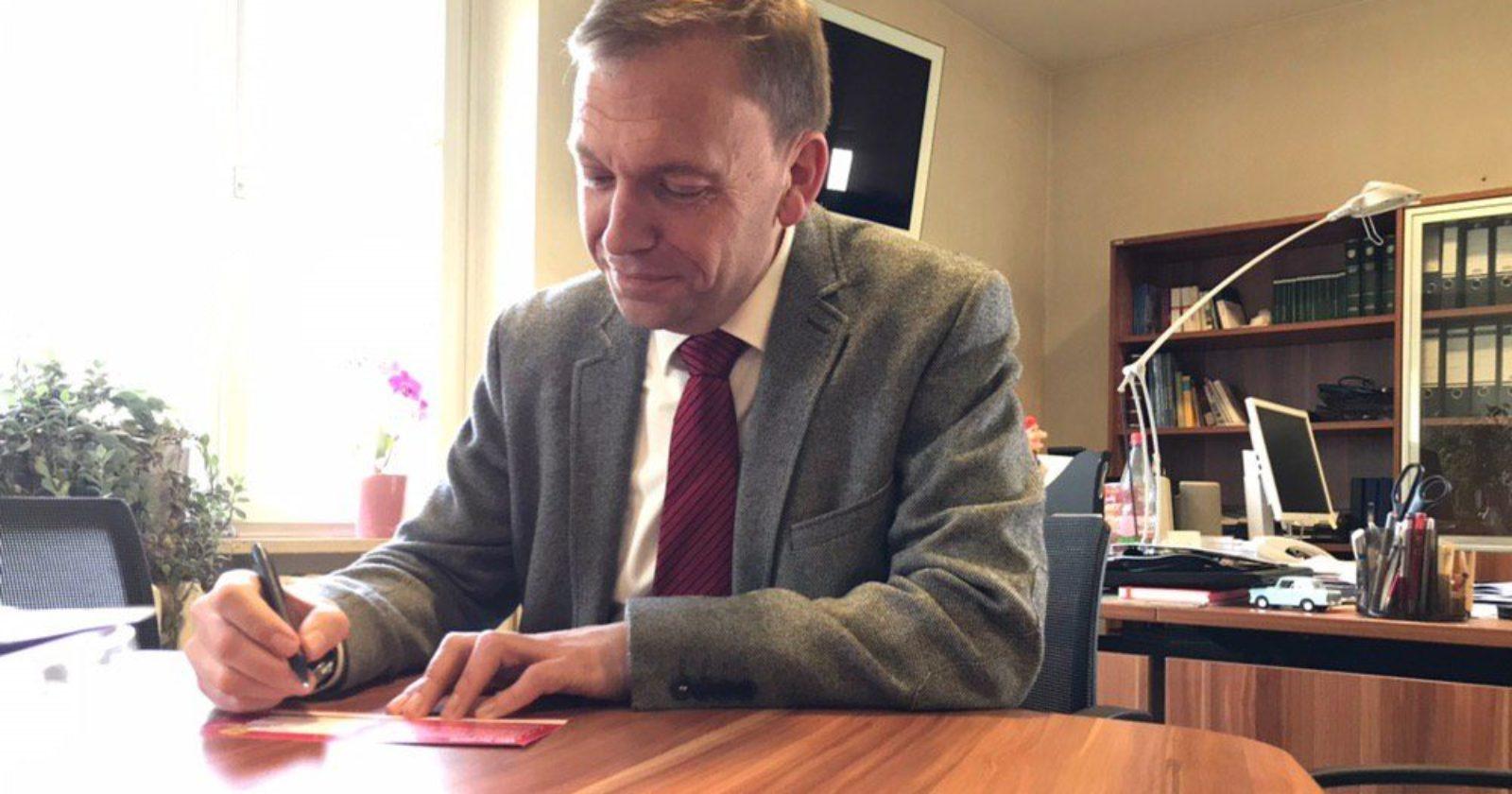 Vorsitzender der SPD-Fraktion im Thüringer Landtag Matthias Hey unterstützt die Forderungen der IG BAU für Reinigungskräfte