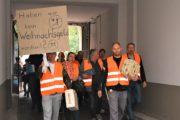 120 Beschäftigte der Gebäudereinigung in Berlin unterstützten IG BAU Tarifkommission und demonstrierten für einen fairen Rahmentarifvertrag