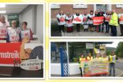 In Franken streiken KollegInnen von Piepenbrock und WISAG