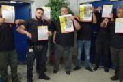 """""""Schließlich stehen sie uns ja zu"""" - Kollegen von Piepenbrock in Frankfurt fordern Überstundenzuschläge ein."""