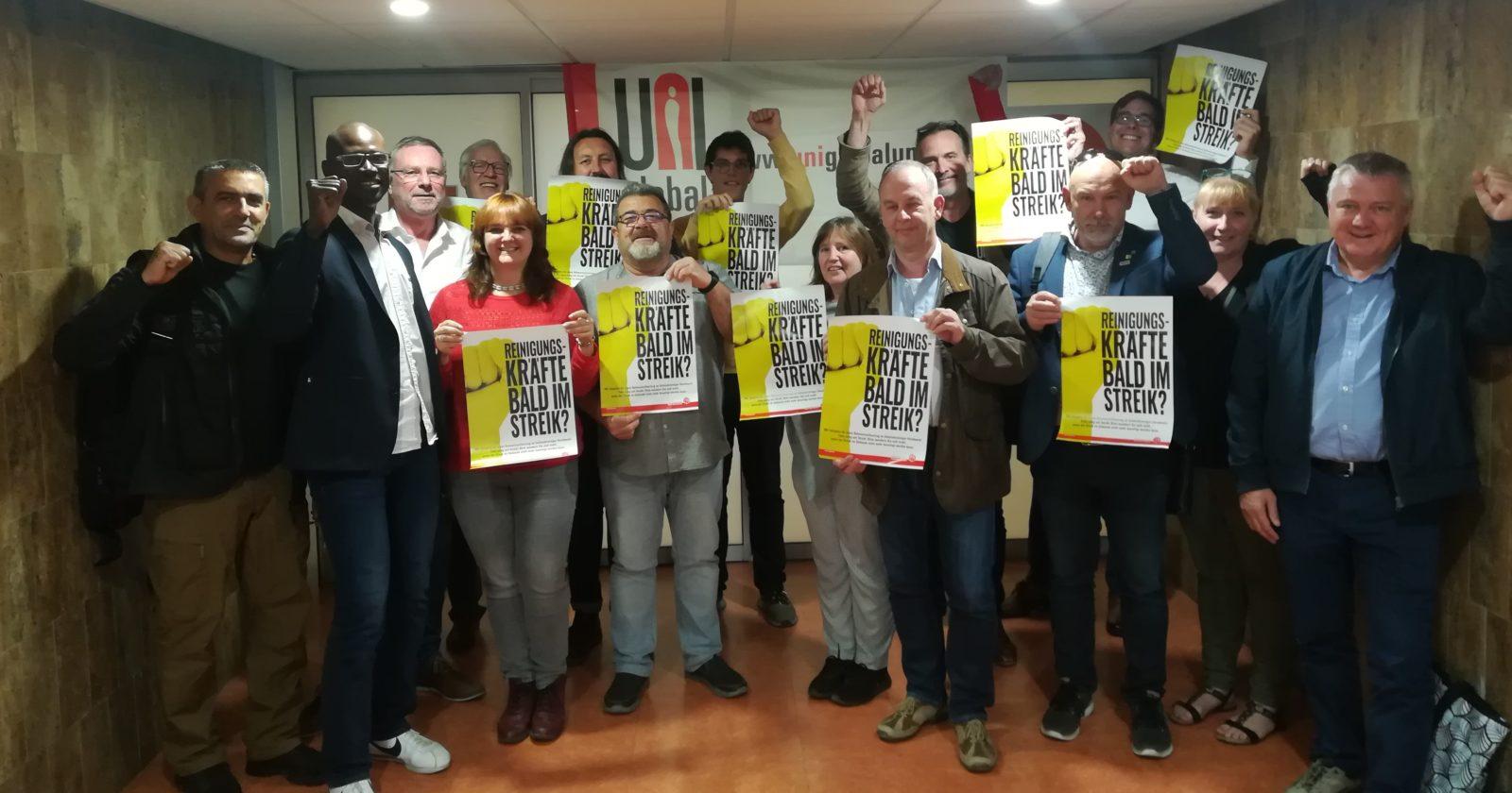 Internationale Solidarität aus Paris für Beschäftigte der Gebäudereinigung in Deutschland