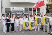 Beschäftigte von Sana DGS in München wollen keine Mogelpackung