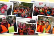 Potsdam und Berlin weiter streikbereit! - Streikende stören Produktionsablauf der Jacobs-Douwe-Egbert-Kaffeerösterei