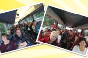 Streikende Reinigungskräfte aus Westfalen auf dem Weg zum Aktionstag nach Osnabrück