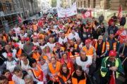 VIDEO: Verhandlungsführerin Ulrike Laux und breites Bündnis aus solidarischen Unterstützern bei Demo in Berlin