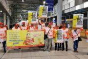 Münster-Osnabrück: Warnstreik legt Flughafen lahm - Beschäftigte von Piepenbrock streiken