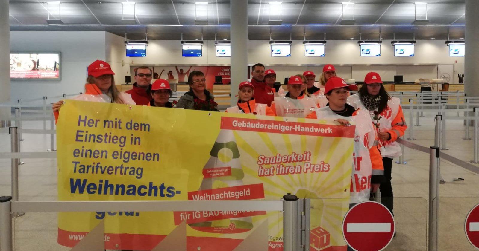 Neues von Streikbrechern von Piepenbrock am Flughafen Münster-Osnabrück