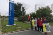 Kolleginnen von ISS Pharma streikten heute für einen guten Rahmentarifvertrag