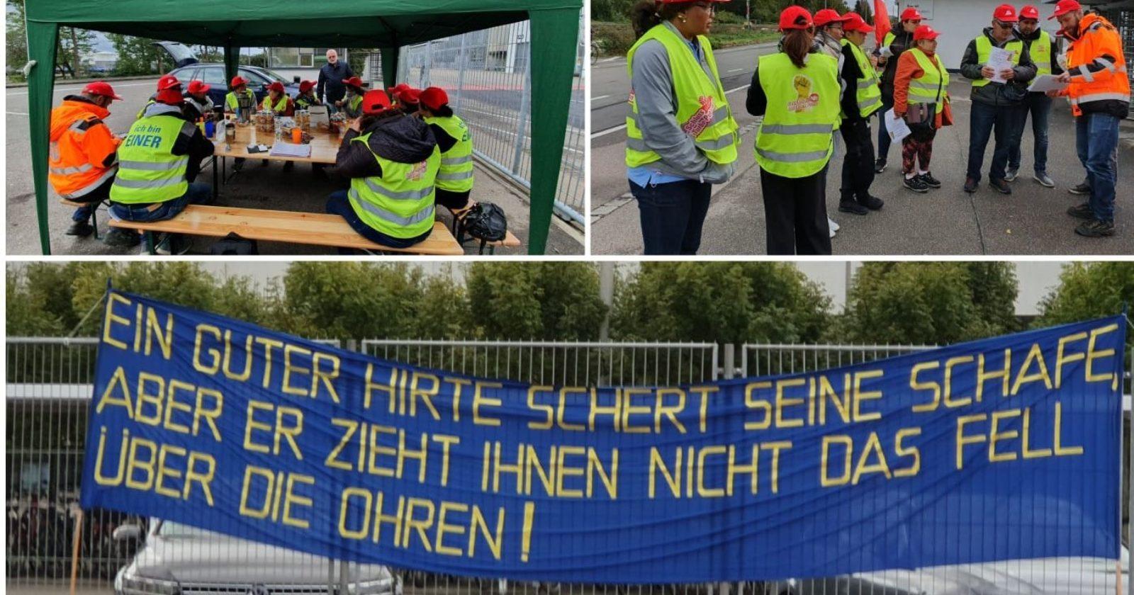Warnstreik bei DSM in Grenzach – Beschäftigte der Gebäudereinigung legen komplette Schicht lahm