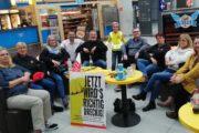 """Streikende KollegInnen am Flughafen Münster-Osnabrück: """"Ob es auch Zuschläge für Überstunden für Streikbrecher gibt?"""""""