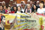 Gewerkschafter aus der ganzen Welt solidarisieren sich mit Beschäftigten der Gebäudereinigung in Deutschland