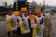 Warnstreik der GebäudereinigerInnen geht weiter - Beschäftigte von Stölting in Gelsenkirchen streiken mit