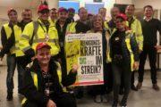 Beschäftigte der Gebäudereinigung von Gegenbauer streiken am Flughafen Frankfurt