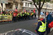 Beschäftigte von Piepenbrock und Gegenbauer streiken in Erfurt.