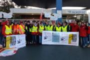 Beschäftigte der Gebäudereinigung bei Premium Aerotec (Airbus) in Nordenham seit heute Morgen im Warnstreik