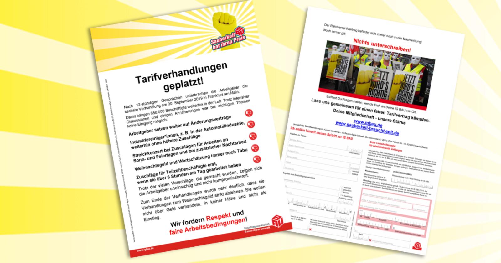 Flugblatt: Tarifverhandlungen geplatzt!