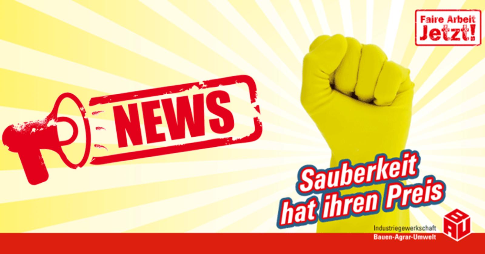 Pressemitteilung: Trotz Mehrbelastung durch Corona: 700.000 Reinigungskräften droht de facto Nullrunde