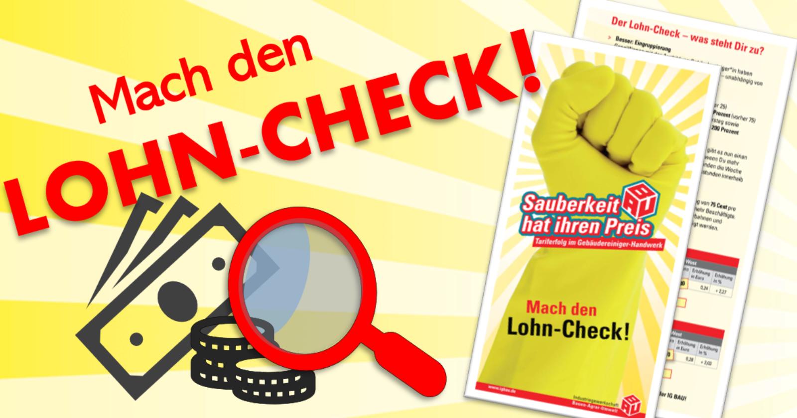 Flugblatt: Mach den Lohn-Check!