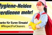 Hygiene-Helden verdienen mehr!