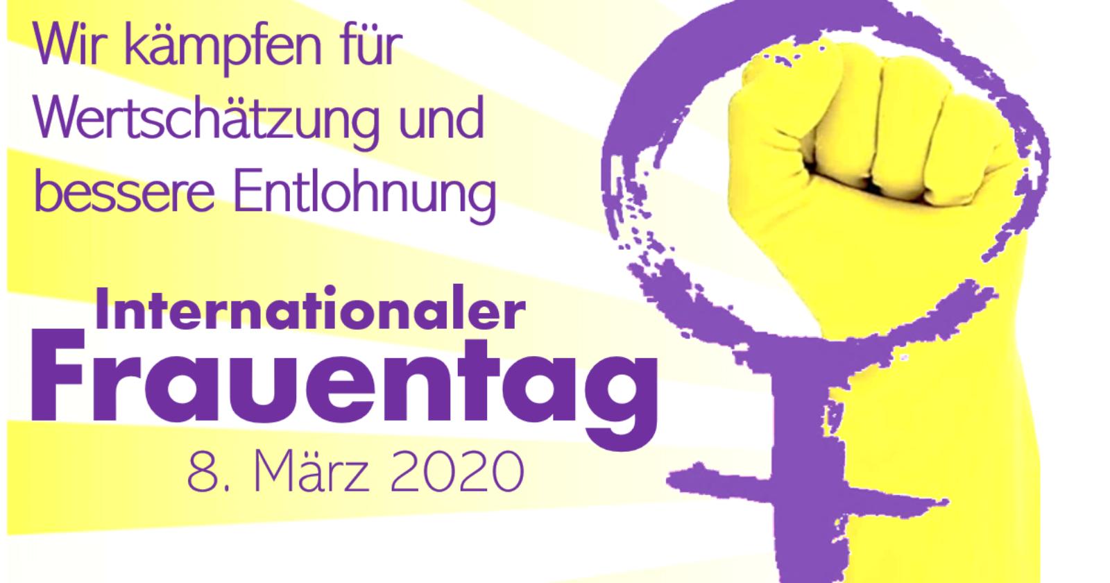 Internationaler Frauentag 2020 - Tarifverträge stärken Rechte von Frauen im Job