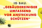 IG BAU: Gebäudereiniger umfassend vor Ansteckung schützen