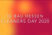 """Auch IG BAU Hessen fordert """"Respect for Cleaners"""" zum Tag der Gebäudereinigung!"""
