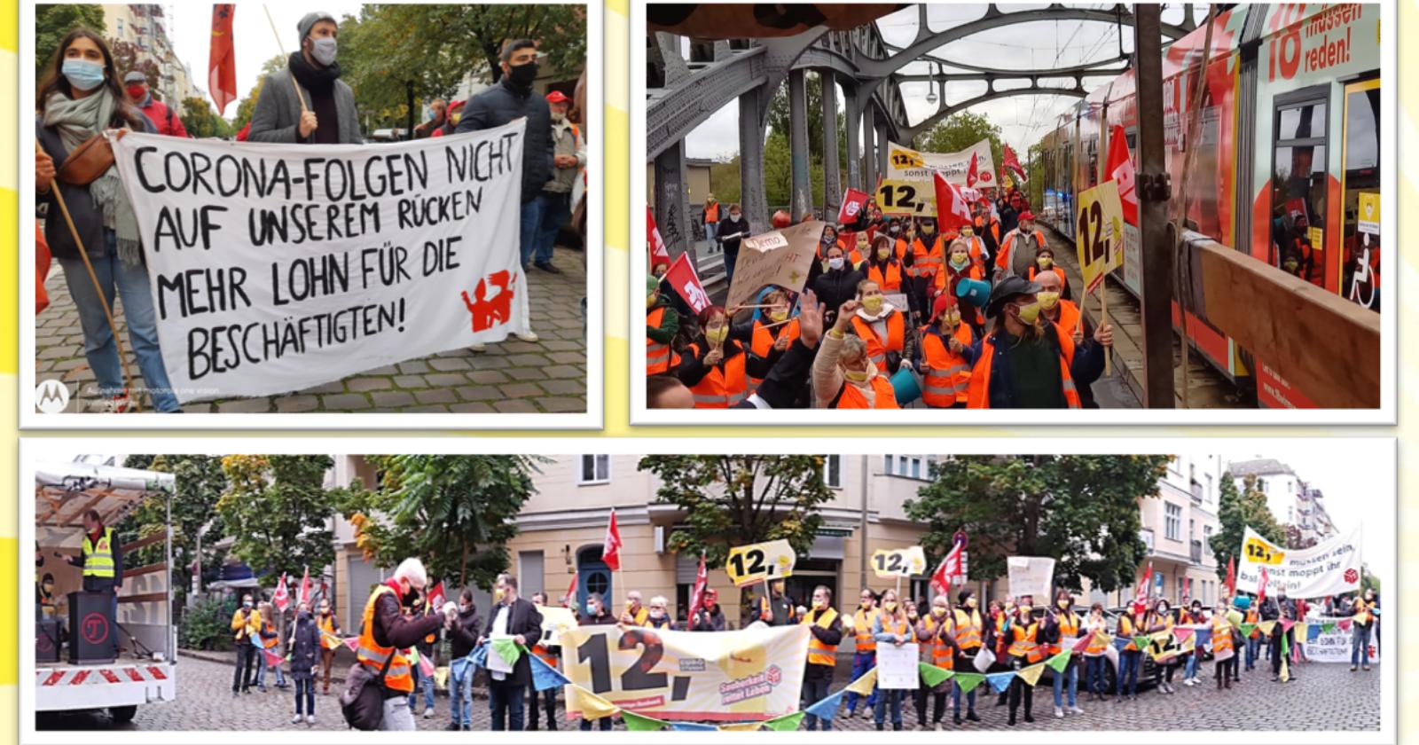 Voll auf die 12! So war die gestrigen Demo der Reinigungskräfte in Berlin (mit Video)