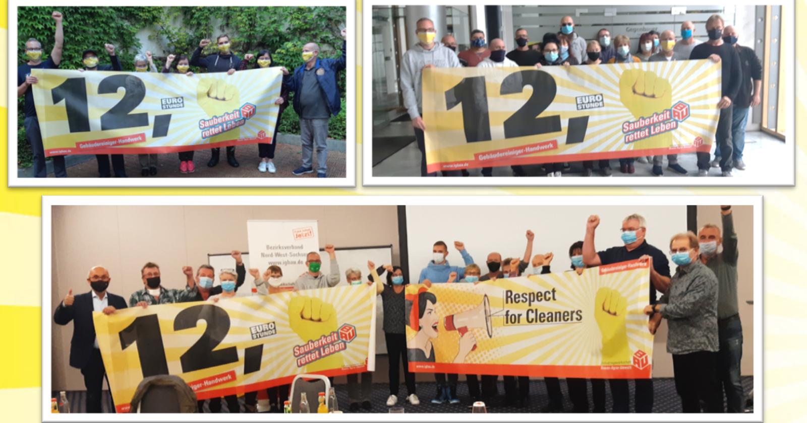 Gebäudereiniger – Handwerk: Heftige Diskussionen und Solidarität nach magerem Angebot der Arbeitgeber in Sachsen