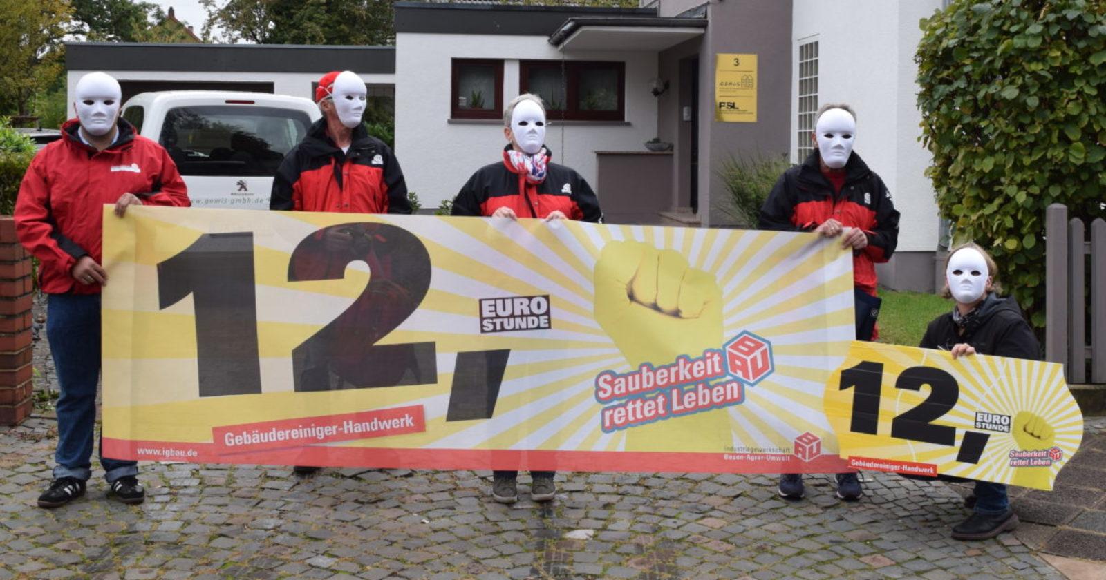 GebäudereinigerInnen im Saarland erinnern Innungsobermeister an Forderungen in Tarifverhandlungen