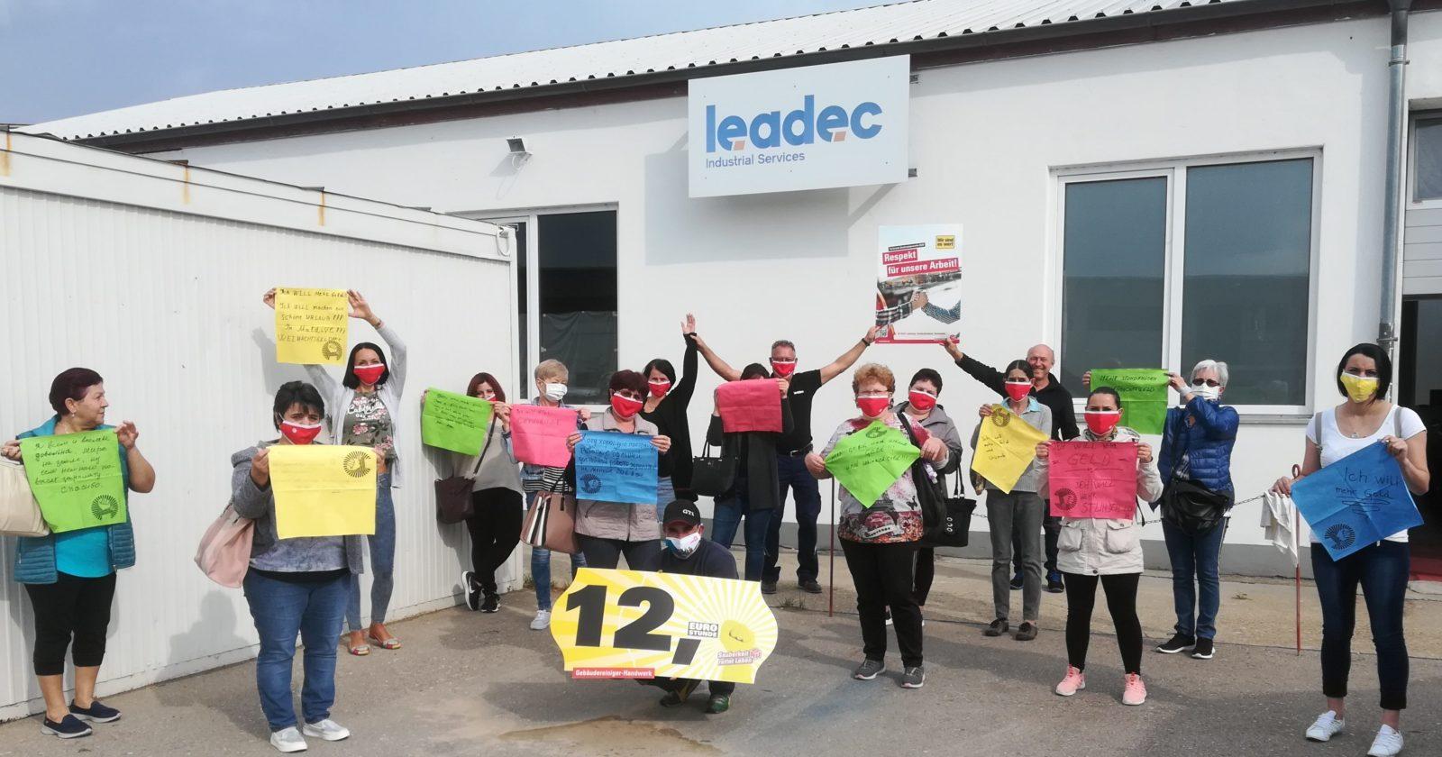 """Reinigungskräfte von Leadec in Gaimersheim: """"Es ist an der Zeit, dass wir gerecht bezahlt werden."""""""