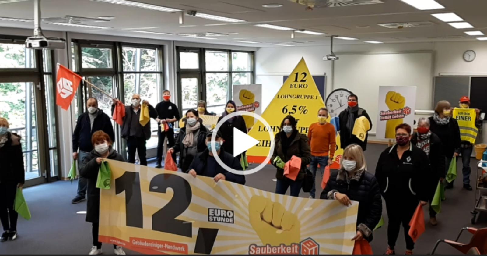 Video-Soli-Botschaft für die IG BAU Tarifkommission von KollegInnen aus Rheinland-Pfalz-Saar