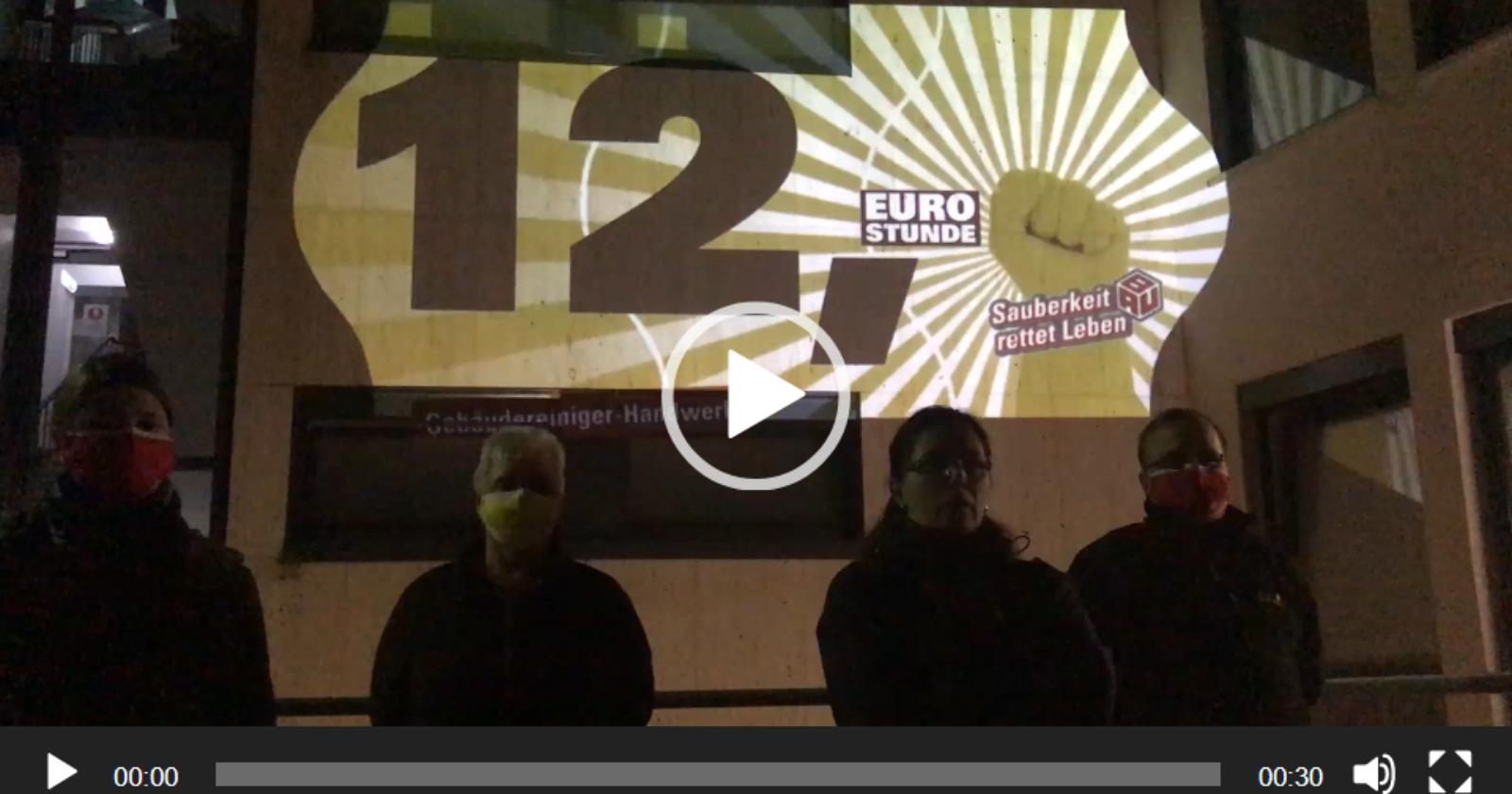 """""""Es ist fünf vor 12!"""" Kolleginnen und Kollegen aus Kassel haben eine Botschaft für die Arbeitgeber"""