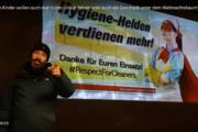 """Videobotschaft aus Hessen: """"Unsere Kinder wollen auch mal in den Urlaub fahren, in die Ferien, oder auch ein Geschenk unter dem Weihnachtsbaum"""""""