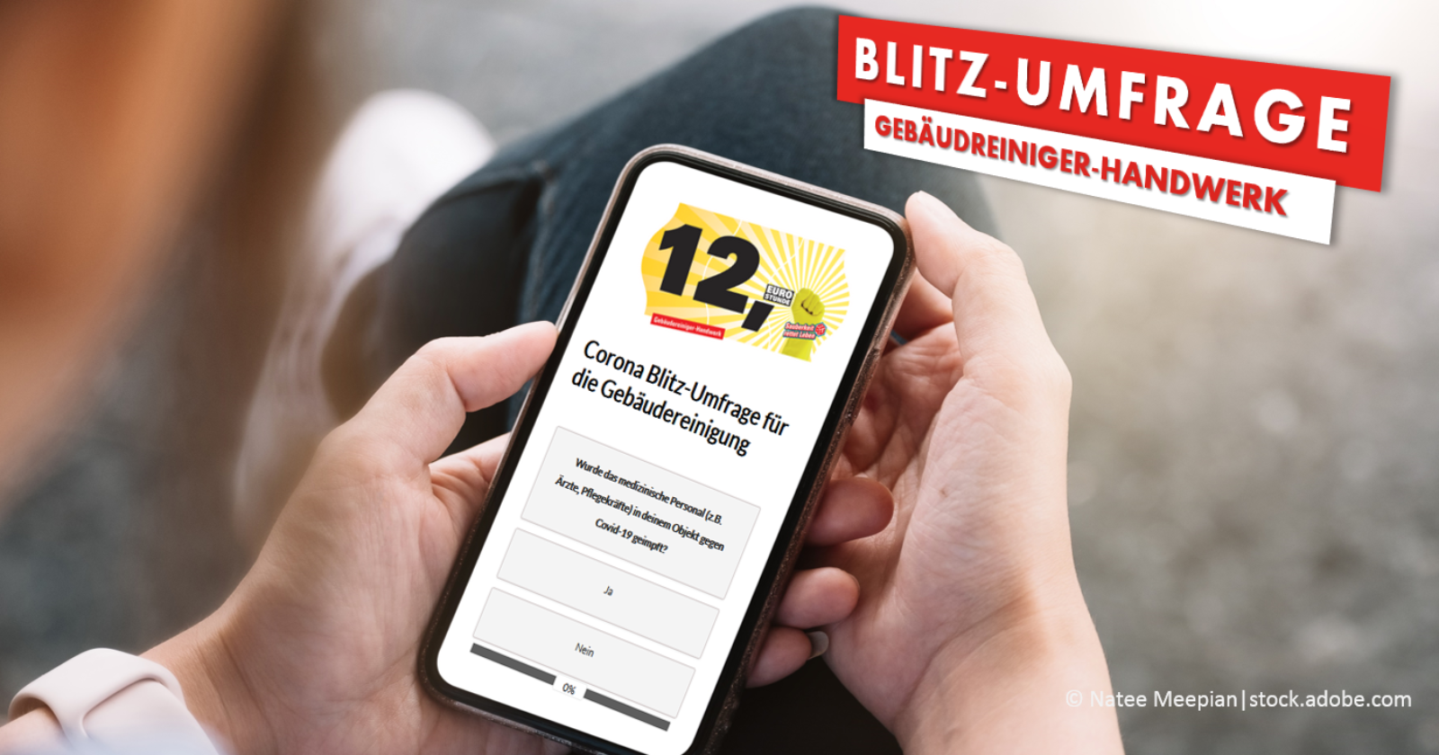 Corona Blitz-Umfrage für Beschäftigte in der Gebäudereinigung