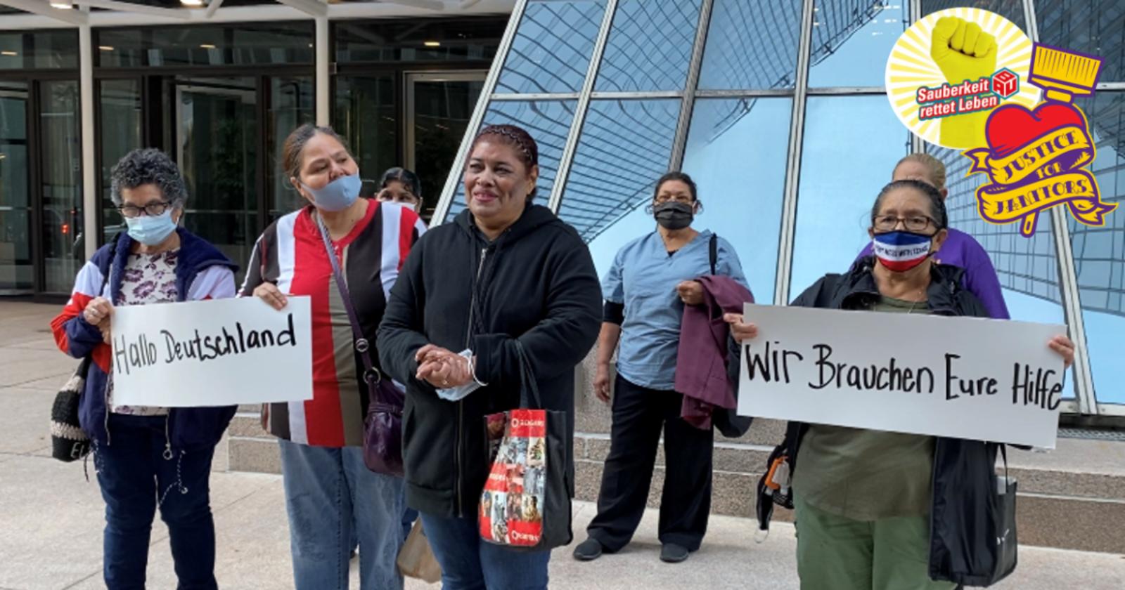 Online-Petition: Reinigungskräfte in Houston kämpfen für ihr Recht - Du kannst helfen!